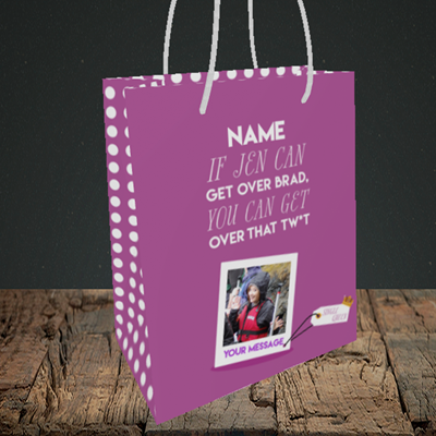 Picture of Brad, Thinking of You Design, Small Portrait Gift Bag