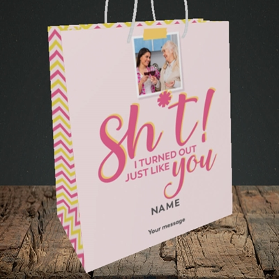 Picture of Just Like You!, Mother's Day Design, Medium Portrait Gift Bag
