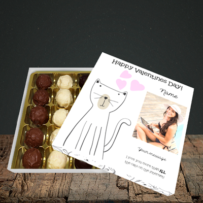 Picture of Cat, Valentine Design, Choc 25