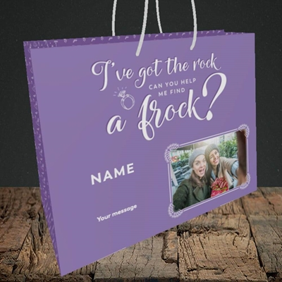 Picture of Got The Rock, Wedding Design, Medium Landscape Gift Bag