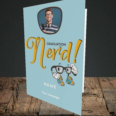 Picture of Graduation Nerd, Graduation Design, Portrait Greetings Card
