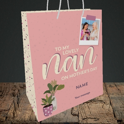 Picture of Lovely Nan, Mother's Day Design, Medium Portrait Gift Bag