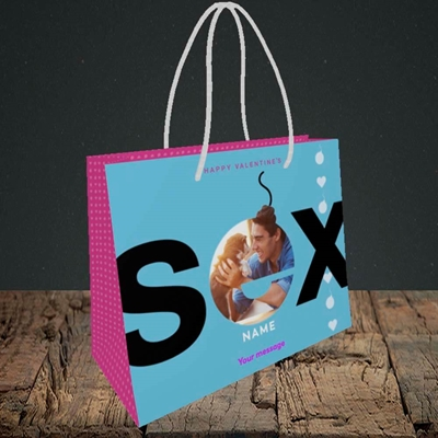 Picture of Sex Bomb - Blue, Valentine's Design, Small Landscape Gift Bag