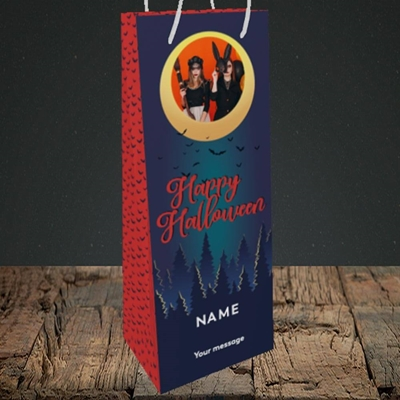 Picture of Spooky Forest, Halloween Design, Bottle Bag