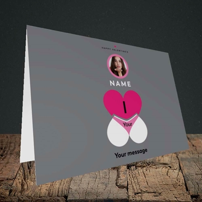 Picture of I Love Your Bum, Valentine's Design, Landscape Greetings Card