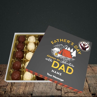 Picture of Adventure With Dad, Father's Day Design, Choc 25