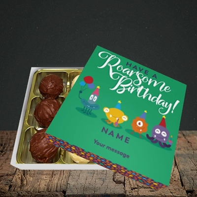 Picture of Roarsome(Without Photo), Birthday Design, Choc 9