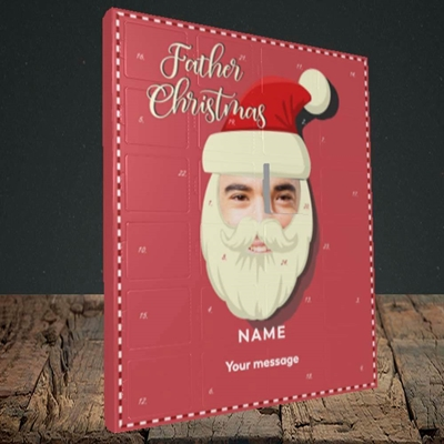 Picture of Father Christmas Mask, Truffle Advent Calendar