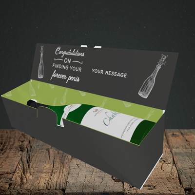 Picture of Forever, Engagement Design, Lay-down Bottle Box