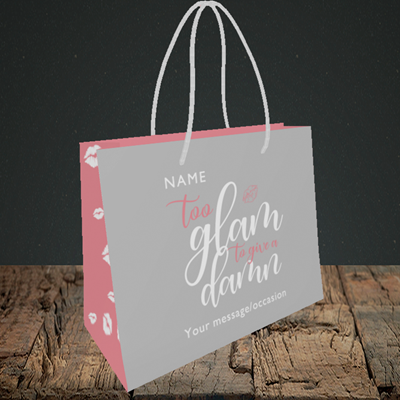 Picture of Glam, (Without Photo) Birthday Design, Small Landscape Gift Bag