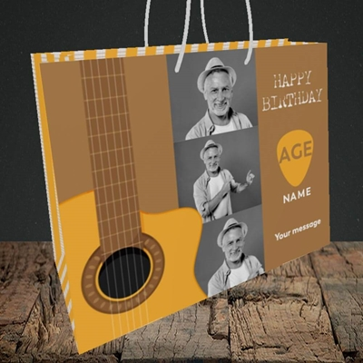 Picture of Acoustic Age, Birthday Design, Medium Landscape Gift Bag
