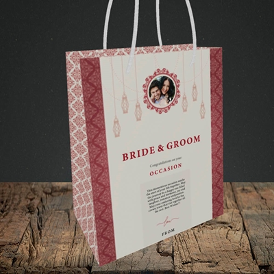 Picture of Moroccan Influences Red B&G, Wedding Design, Small Portrait Gift Bag