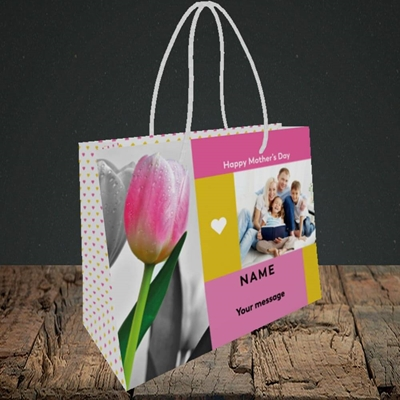 Picture of Mother's Day Tulips, Mother's Day Design, Small Landscape Gift Bag