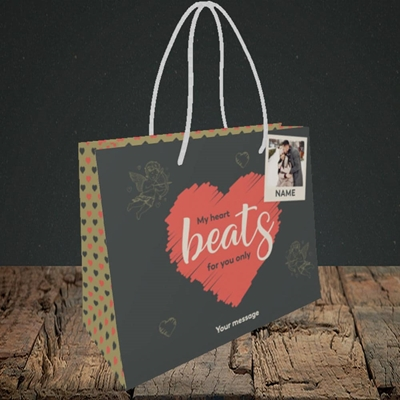 Picture of Beats For You, Valentine's Design, Small Landscape Gift Bag