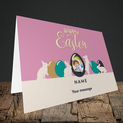 Picture of Four Bunnies, Easter Design, Landscape Greetings Card