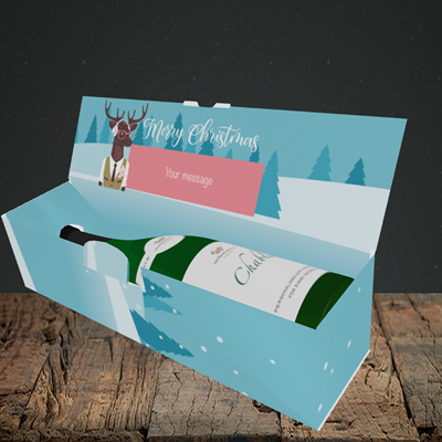 Picture of Countdown(Without Photo), Christmas Design, Lay-down Bottle Box