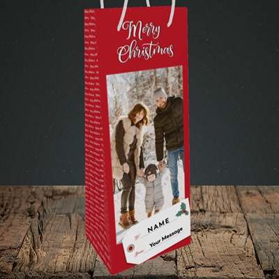Picture of 1. A Merry Christmas, Large Photo, Christmas Design, Bottle Bag