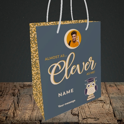 Picture of Clever as Me, Graduation Design, Small Portrait Gift Bag
