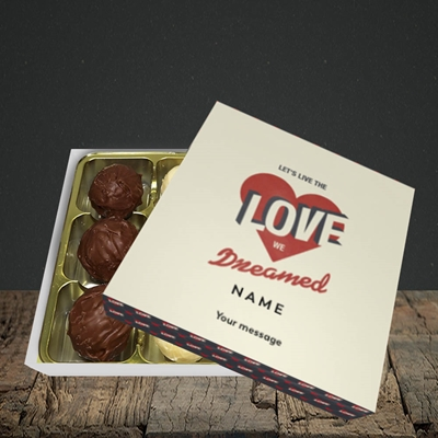 Picture of let's live the love (Without Photo), Valentine Design, Choc 9