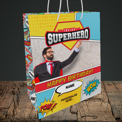 Picture of Comic, Birthday Design, Medium Portrait Gift Bag