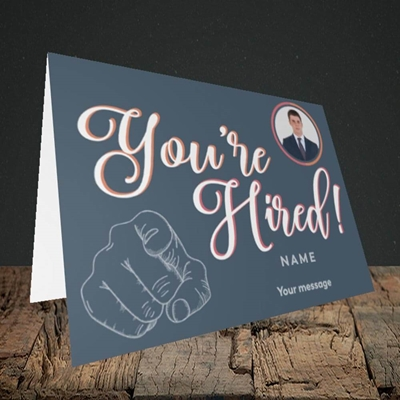 Picture of You're Hired, New Job Design, Landscape Greetings Card