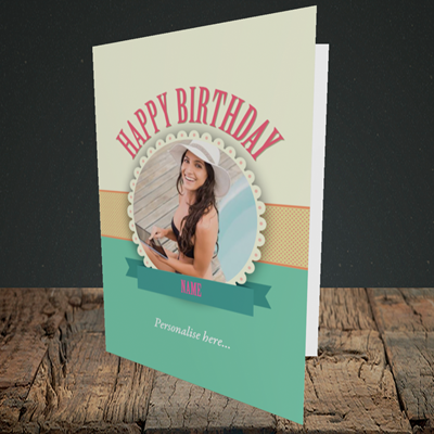 Picture of Roses, Birthday Design, Portrait Greetings Card