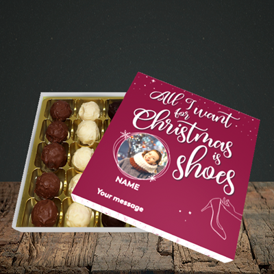 Picture of Christmas Shoes, Christmas Design, Choc 25