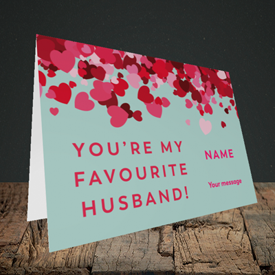 Picture of Favourite Husband(Without Photo), Valentine's Design, Landscape Greetings Card