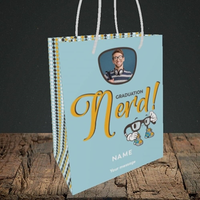 Picture of Graduation Nerd, Graduation Design, Small Portrait Gift Bag