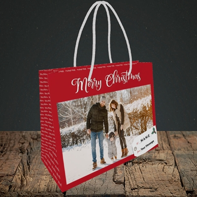 Picture of 1. A Merry Christmas, Large Photo, Christmas Design, Small Landscape Gift Bag
