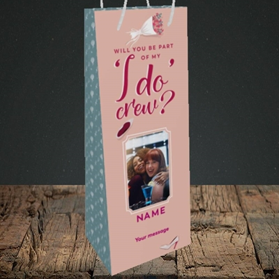 Picture of I Do Crew, Wedding Design, Bottle Bag