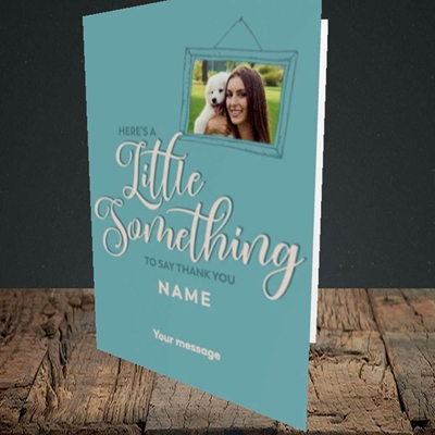 Picture of A Little Something, Thank You Design, Portrait Greetings Card