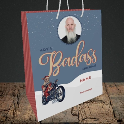 Picture of Badass, Christmas Design, Medium Portrait Gift Bag