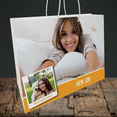 Picture of Photo, New Job Design, Medium Landscape Gift Bag