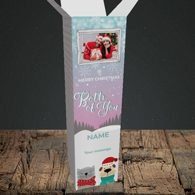 Picture of Both Of You, Christmas Design, Upright Bottle Box