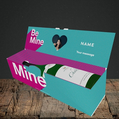 Picture of Always be Mine (type), Valentine's Design, Lay-down Bottle Box