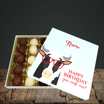 Picture of Cow, (Without Photo) Birthday Design, Choc 25