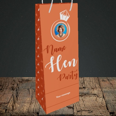 Picture of Hen Party Orange, Wedding Design, Bottle Bag
