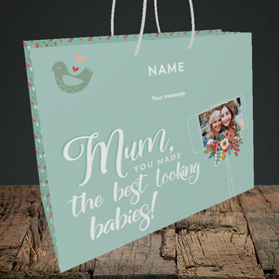 Picture of Best Looking Babies, Mother's Day Design, Medium Landscape Gift Bag