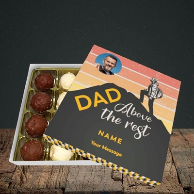 Picture of Dad Above The Rest, Father's Day Design, Choc 16