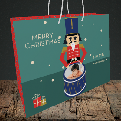 Picture of Drummer Boy, Christmas Design, Medium Landscape Gift Bag