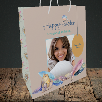 Picture of Birds, Easter Design, Medium Portrait Gift Bag