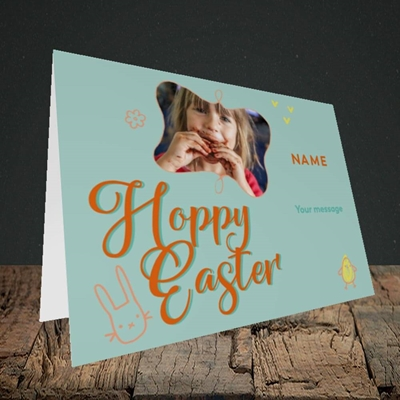 Picture of Hoppy Easter, Easter Design, Landscape Greetings Card