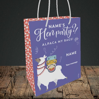 Picture of Alpaca My Bags(Without Photo), Wedding Design, Small Portrait Gift Bag