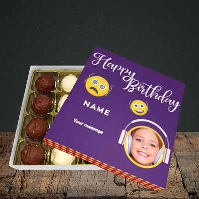 Picture of Smileys, Birthday Design, Choc 16