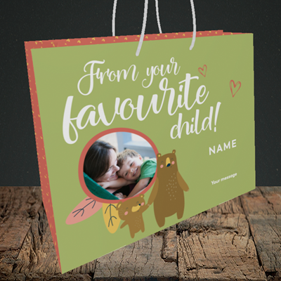 Picture of Favourite Child, Mother's Day Design, Medium Landscape Gift Bag
