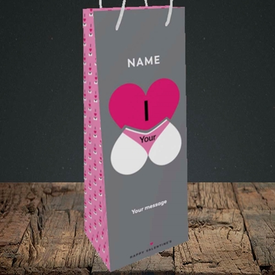 Picture of I Love Your Bum(Without Photo), Valentine's Design, Bottle Bag