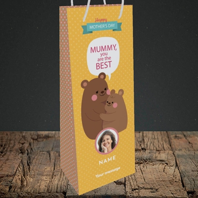 Picture of Mummy You Are The Best Bear, Mother's Day Design, Bottle Bag