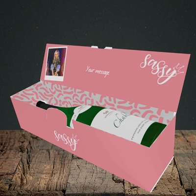 Picture of Sassy, Birthday Design, Lay-down Bottle Box