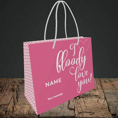 Picture of I Bloody Love You(Without Photo), Valentine's Design, Small Landscape Gift Bag